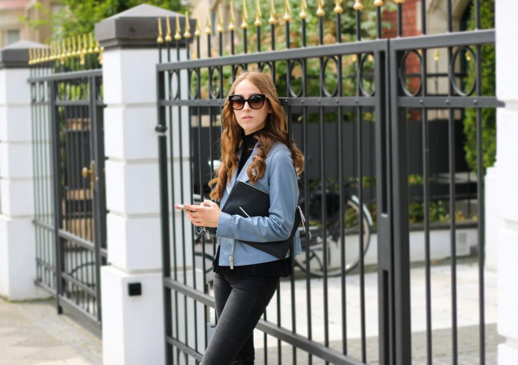 blaue-lederjacke-11 - Stand Black Nude Leather Jacket