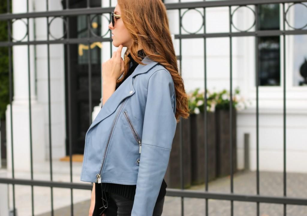 blaue-lederjacke-14 - Stand Black Nude Leather Jacket