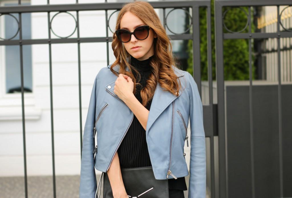 blaue-lederjacke-16 - Stand Black Nude Leather Jacket