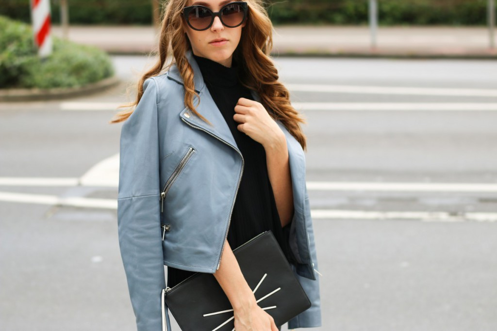 blaue-lederjacke-17 - Stand Black Nude Leather Jacket
