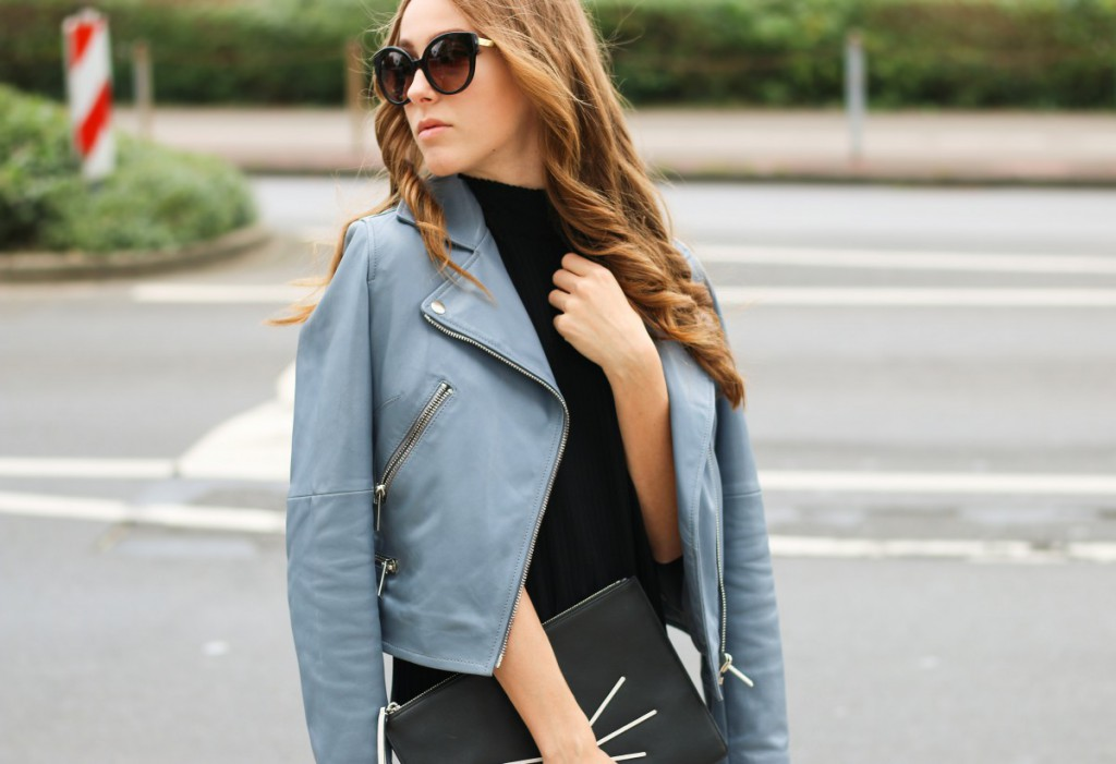blaue-lederjacke-18 - Stand Black Nude Leather Jacket